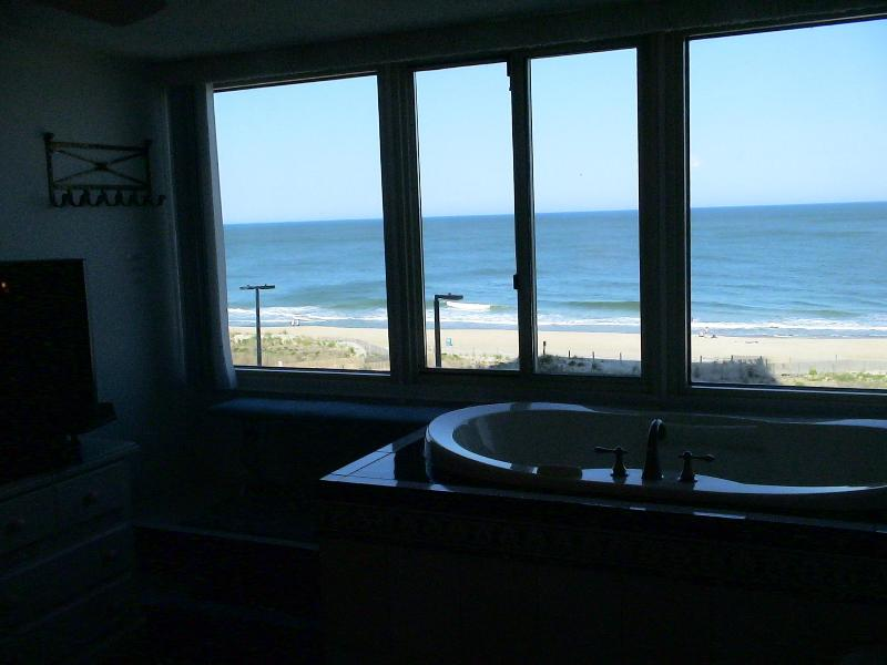 Master Suite features a jacuzzi with a fantastic ocean front view - Luxury Oceanfront Condo, Jacuzzi Overlooking Ocean - Ocean City - rentals
