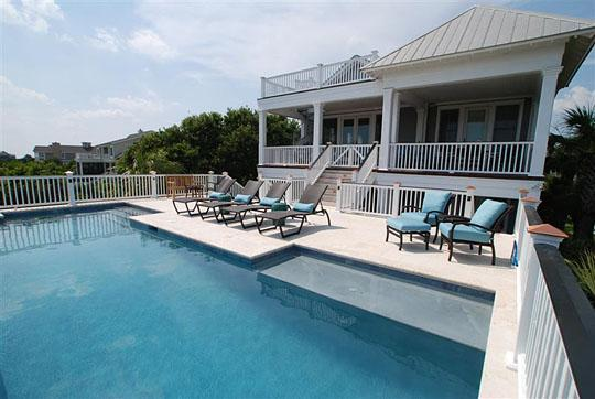 Pool & Deck - Gorgeous 7 Bedroom w/Pool & Partial Ocean View! - Isle of Palms - rentals