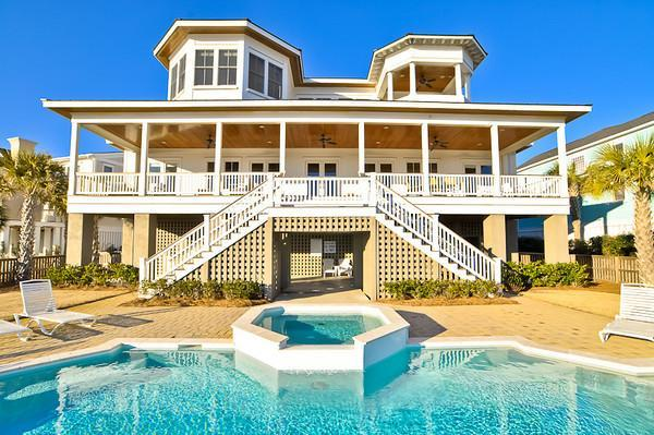 Pool & Rear Exterior - Fall Disc for stays Now thru 10/14/16~108 Ocean - Isle of Palms - rentals