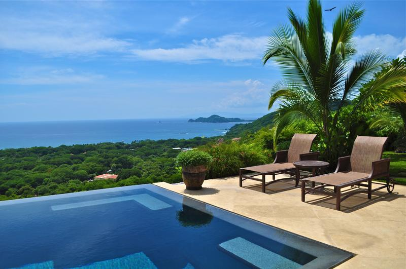 Infinity Pool   and Gulf of Papagayo - Luxury Ocean View 6 Bedroom Villa - Playa Hermosa - rentals