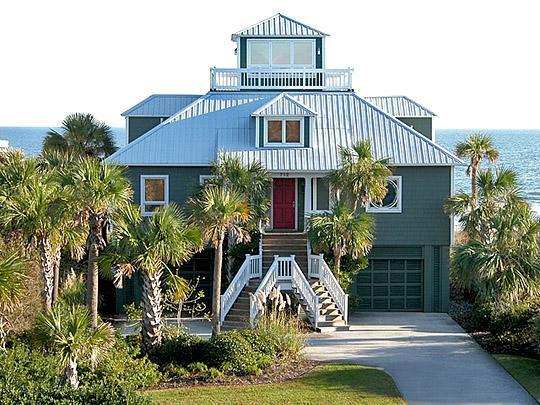 Front of House - Oceanfront, 3 Bd, 2.5 Ba, Cozy Rooftop Aerie!! - Isle of Palms - rentals