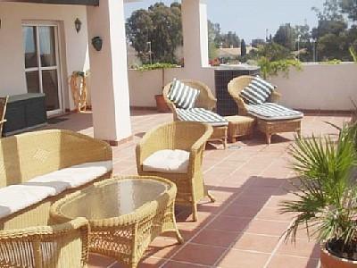 "Terrace with Furniture - Nueva Andalucia holiday apartment ""Lorcrimar Iv"" - Puerto José Banús - rentals"
