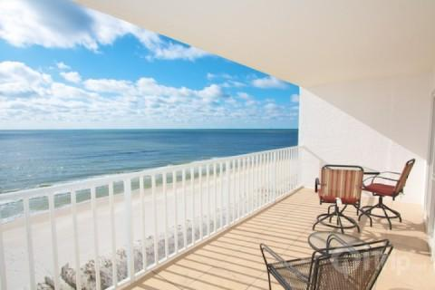 Gulf front balcony - Ocean House 1802 - Gulf Shores - rentals