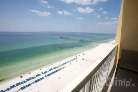 Amazing Views of the Gulf of Mexico and Pier - Amazing View from 1 Bedroom Condo at Calypso Beach Towers - Panama City Beach - rentals