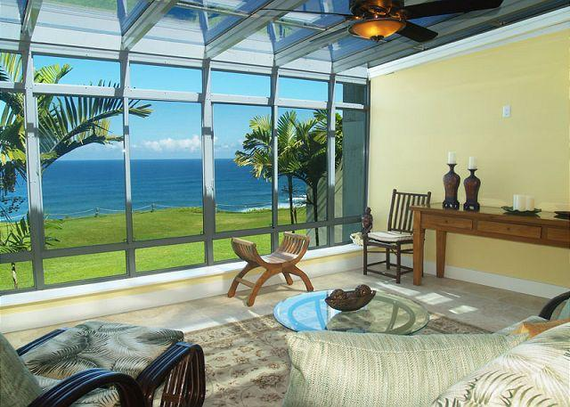 Puu Poa 201: Oceanfront luxury + Bali Hai views AND a/c in this 2000sf condo - Image 1 - Princeville - rentals