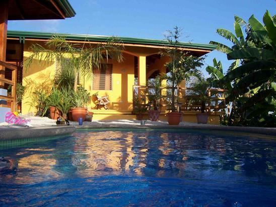 Casa Mango in the gentle afternoon sun - Ocean View House, Pool, AC, WIFI - Casa Mango - Playa Samara - rentals
