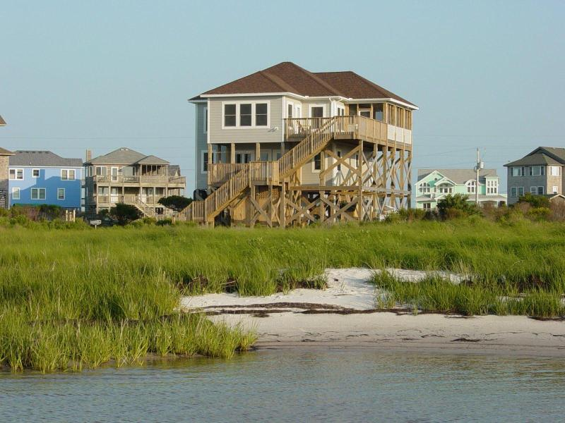 view of the house from the sound looking south - OBX Sound Front! Incredible Panoramic Water Views! - Frisco - rentals