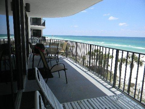Balcony - View to East - 3 Bedroom with Beach Chairs at Watercrest - Panama City Beach - rentals