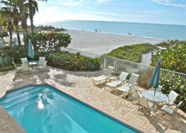 SeaSide 102 - Outstanding Gulf Front three bedroom condo with pool in 4-plex - Image 1 - Indian Rocks Beach - rentals