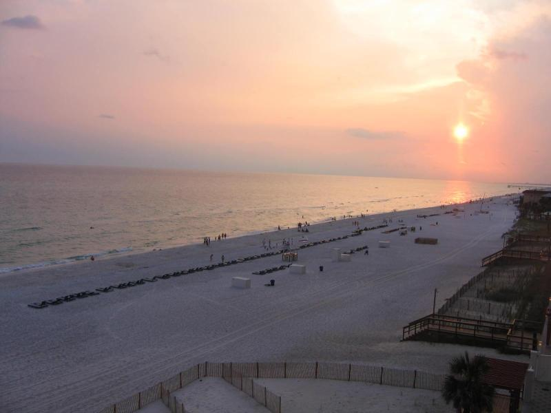 The view from the balcony facing west. - Oceanfront condo, 3 BR,2BA,5th floor - Panama City Beach - rentals