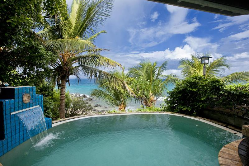 Romantic, alluring, enticing (insert adjective) infinity edge plunge pool with beach view;Sundowner. - Romantic Beachfront Honeymoon Villa/Very Private ! - Nail Bay - rentals