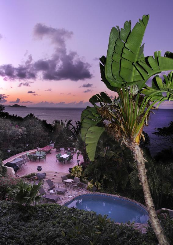 Stunning sunsets are guarenteed each night from the wrap around deck at Sunset Watch beachside villa - 2 BR Beachfront/ Balcony/ Pool/ Beachfront! - Nail Bay - rentals