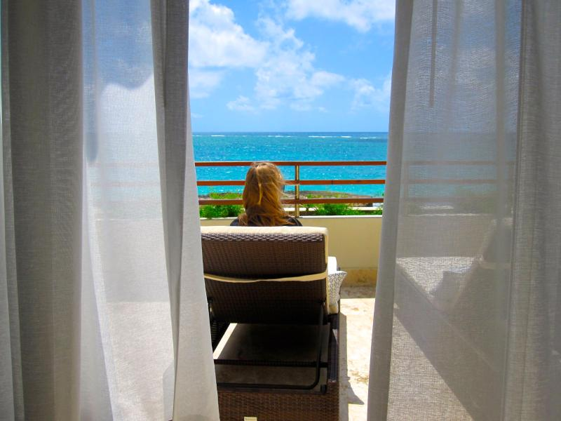 Your views are ocean, ocean and beach - BLUE BIJOUX, Ocean Beachfront 2 Bedroom Apartment - Punta Cana - rentals