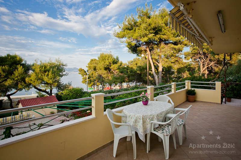 Apartment terrace - Apartment, view on sea, only 50 m from beach (A4) - Slatine - rentals