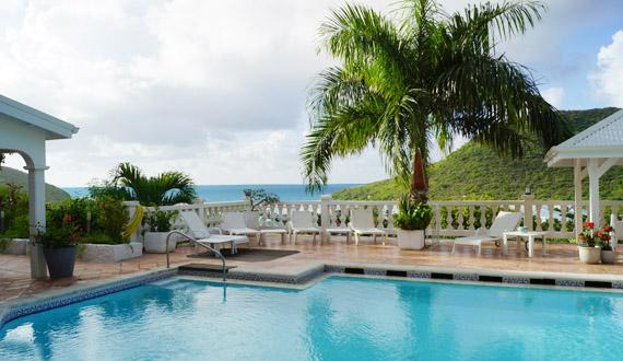 Villa Joelle, French St Martin...Anse Marcel, 800 480 8555 - JOELLE... a truly unique luxury villa made for entertaining, great views and very tropical location - Anse Marcel - rentals