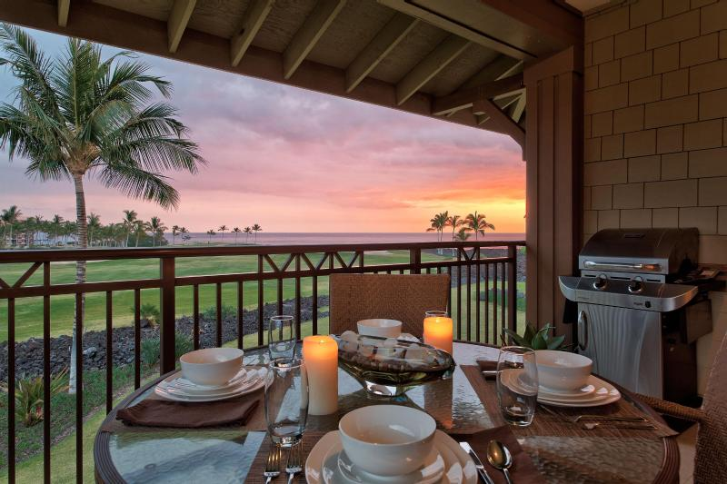 Sunset from the Lanai - Oceanview 2Br Halii Kai Condo12A-Clean/Resort Inc - Waikoloa - rentals