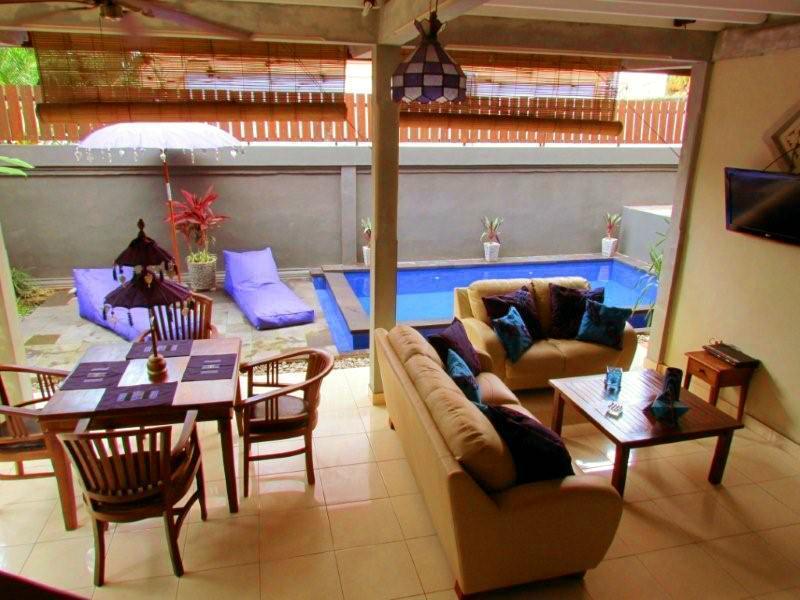 Overview of Open Living/Dining Room, overlooking pool - Villa Aqua, 2-bedroom with pool, walk to beach - Seminyak - rentals