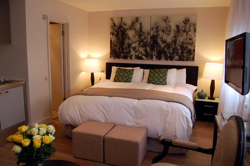 Large bed (185cm width 190cm length/6 ft 1 x 6 ft 3) - Studio apartment in heart of the city, free Wi-Fi - London - rentals