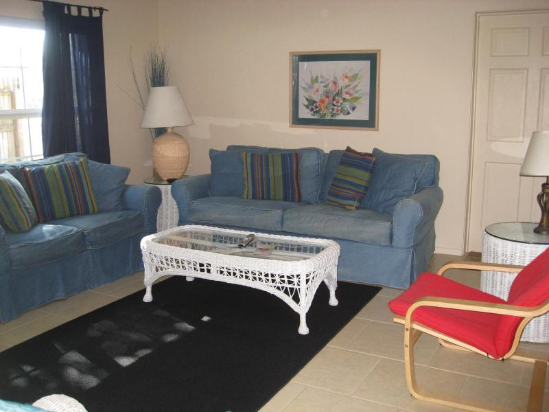 Living Room to Porch Door - Next to the Best Two Bedroom Vacation Apartments - Sarasota - rentals