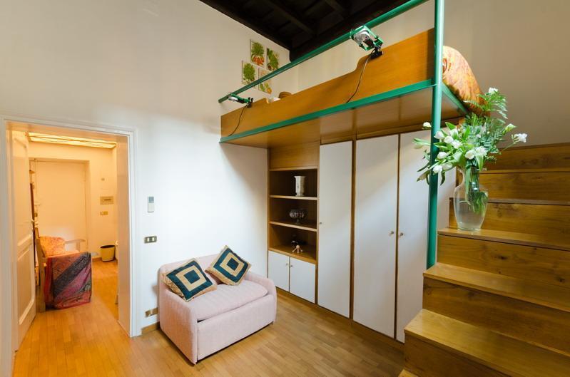 Loft area - Spanish Steps Modern Studio - Rome - rentals