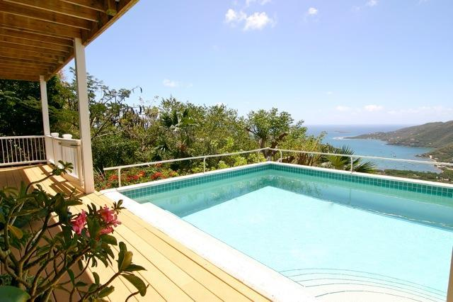 View from the pool - Charming luxury villa/ Super views/ Sleeps 2-8 - Saint John - rentals