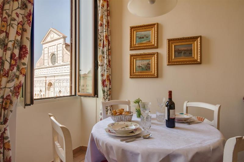 VISITED BY TRIPADVISOR -View from livingroom - Prestigious Apartment in S. Maria Novella in Florence - Florence - rentals