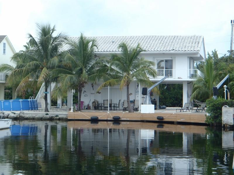 Back View of the House from Canal - Key Largo Paradise Point- Waterfront Pool Home - Key Largo - rentals