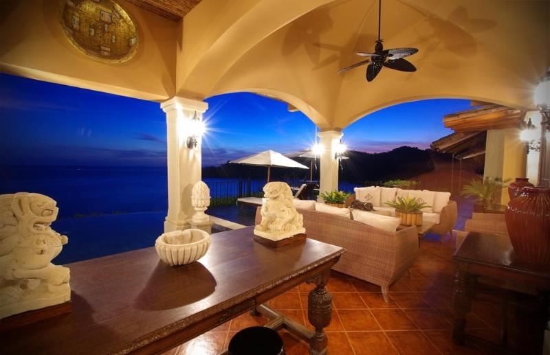 Terrace at sunset - Luxury Home in Punta Islita, Easter Wk available! - Guanacaste - rentals