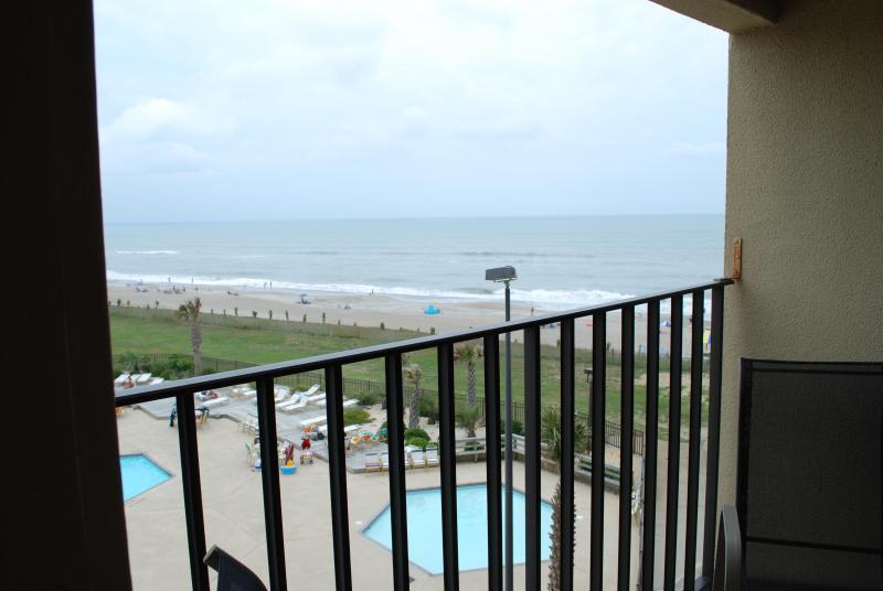 View of Atlantic Ocean and Pools From Balcony - Oceanfront Luxury Condo - Indian Beach - rentals