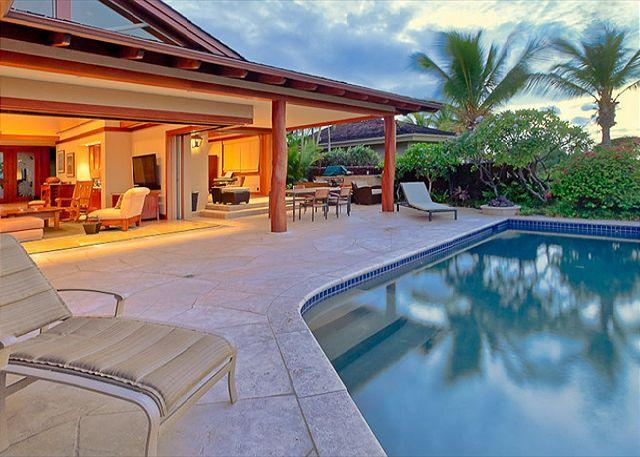 Exterior View of Home and Pool - Custom Luxury Residence in Exclusive Hualalai Resort - Mauna Lani - rentals