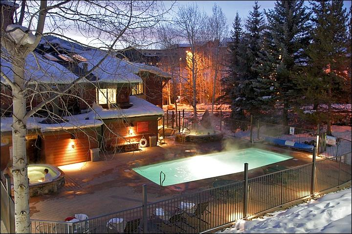 Heated Pool & 2 Large Hot Tubs - Open Winter & Summer. - Newly Remodeled & Only 113 Steps from Ski Access - Private Game Room w/ Pool Table, Air Hockey, Ping Pong, Phoose Ball, Darts, & HDTV (3662) - Steamboat Springs - rentals
