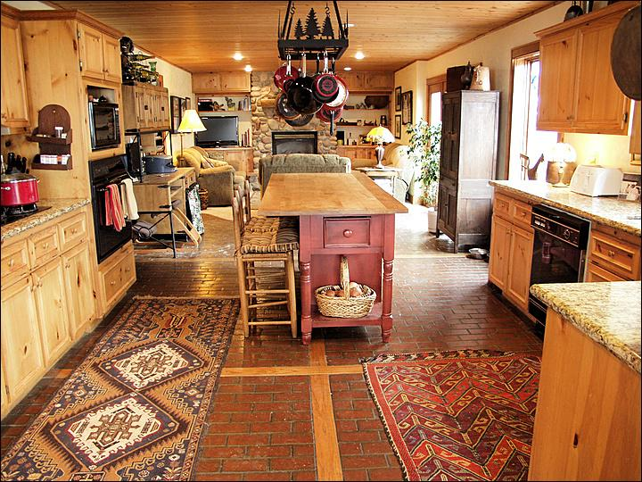 Large, Open Kitchen with Granite Counters, Stainless Steel Appliances, & Butcher Block Island. - Large Private Home - 3 Living Rooms - Great Views of the Flat Top Wilderness (5994) - Steamboat Springs - rentals