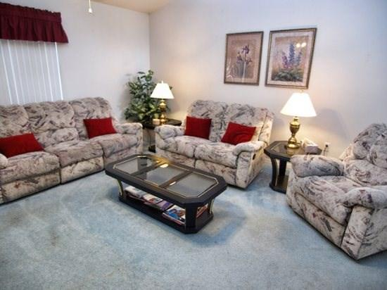 Living Area - RR3P252RRC 3BR Pool Home with Privacy Fence and Hot Tub - Orlando - rentals