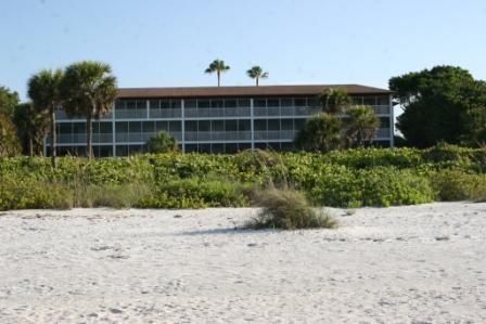 White Sands from the beach. - White Sands #13 Gulf front condo on Sanibel Island - Sanibel Island - rentals
