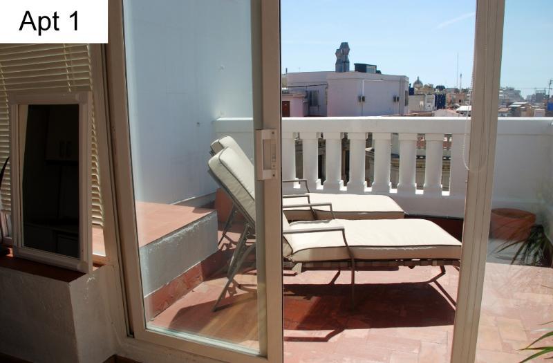 Apt 1 - terrace - Penthouse Ramblas Plaça Catalunya - Barcelona - rentals