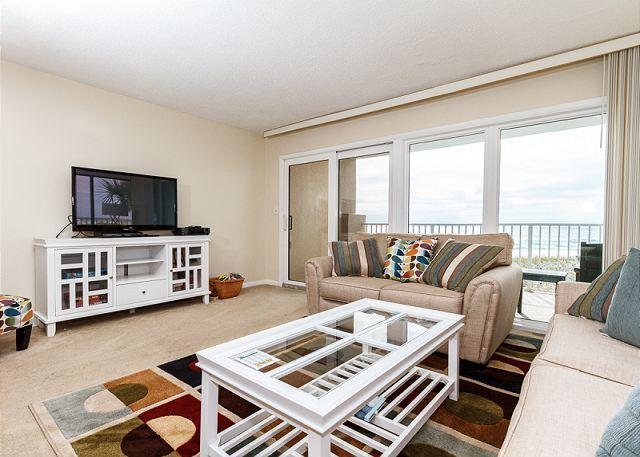 This corner unit allows maximum natural light in - GS 203:WRAP AROUND BALCONY, RIGHT ON BEACH, FREE BEACH CHAIRS AND GOLF! - Fort Walton Beach - rentals