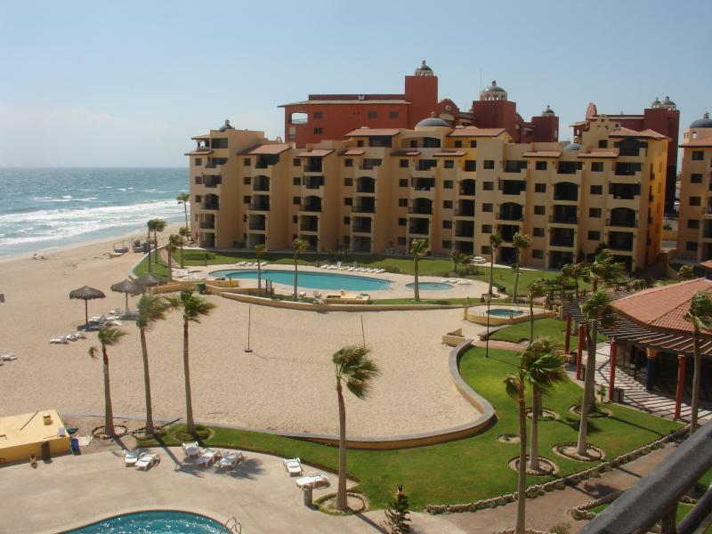 View of condo building. Condo is on 3rd floor, second condo in from the ocean. - 2 Bedroom / 2 bath condo on Sandy Beach, Mexico. - Puerto Penasco - rentals
