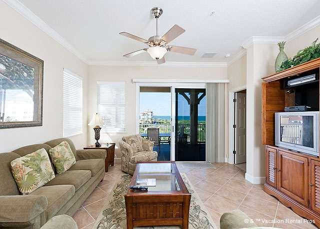 Enjoy sweeping ocean & golf views from the living room or balcon - 141 Cinnamon Beach Ocean Hammock Golf Rentals Condos - Palm Coast - rentals