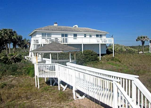 Your very own boardwalk to the beach, complete with gazebo! - Morning Star Beach House, 4 bedroom, separate 1st floor - Ponte Vedra Beach - rentals