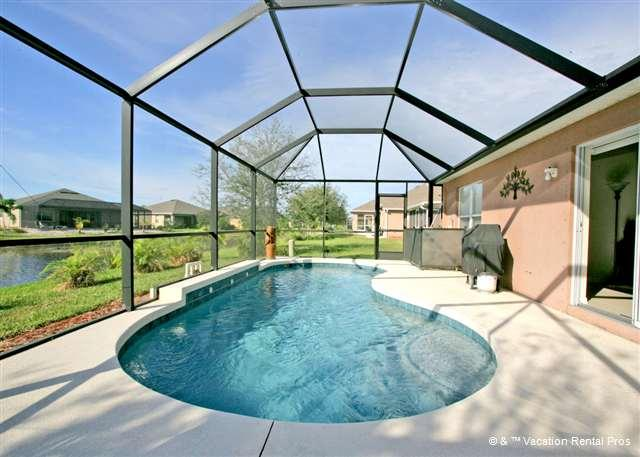 Picture yourself in the pool on the lanai, floating blissfully! - Gulf Princess, Pet Friendly Vacation Rentals Venice FL - Venice - rentals