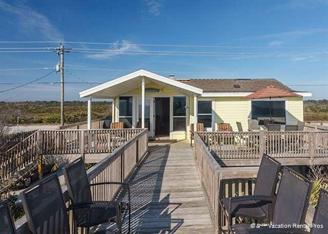 """The wraparound deck leads right down to the beach! - Turtle's Nest House, Beach Home, Sweeping Views, """"3D"""" HDTV - Ponte Vedra Beach - rentals"""