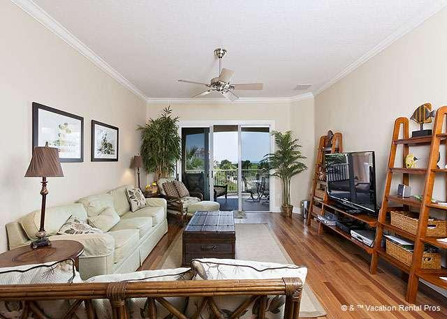 Our living room features an HD LCD TV - 132 Cinnamon Beach, 3rd Floor, Newly Furniture, HDTV, Wifi - Palm Coast - rentals