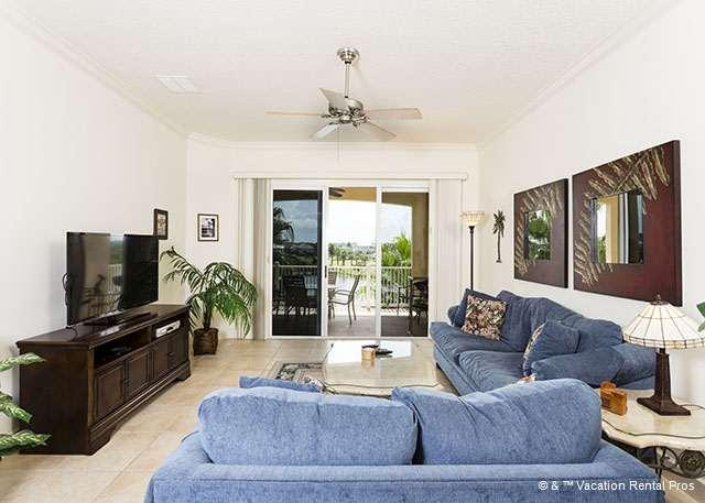 Cozy up in our over-stuffed, comfy sofas - 1034 Cinnamon Beach pet friendly, 2 pools, HDTV, Blue Ray - Palm Coast - rentals