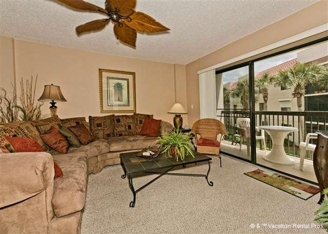 Step into our beautifully decorated living room - Ocean Village R22, Elevator HDTV, Wifi in Unit, Near Pool - Saint Augustine - rentals