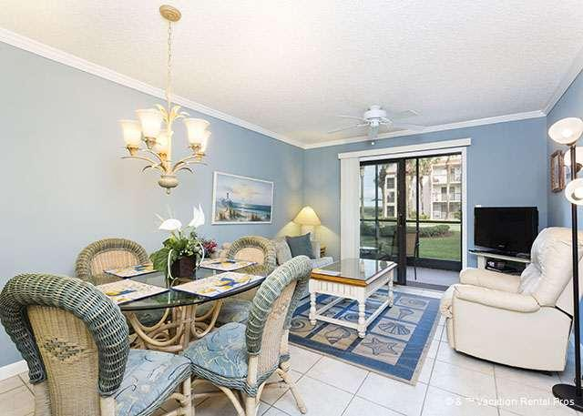 Our beautifully furnished living room at Ocean Village Club A16 - Ocean Village A16, new furniture, Ground Floor, pools - Saint Augustine - rentals