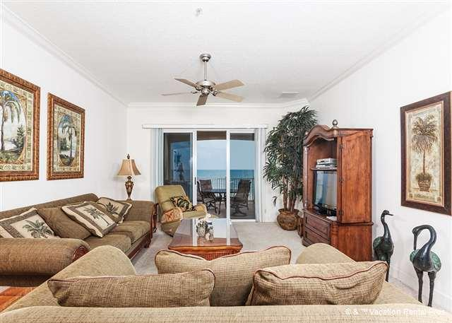 Cinnamon Beach 842 comfortably sleeps six people! - 842 Cinnamon Beach 4th Floor Ocean Front, Sweeping View, HDTV - Palm Coast - rentals