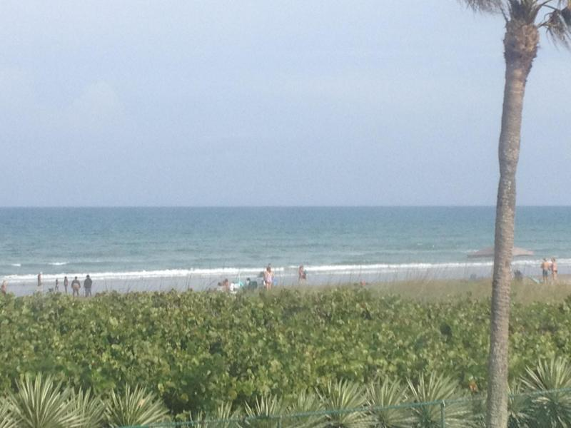 Ocean/Beach view from both bedroom windows - Relaxing Beach Condo with Ocean View - Cocoa Beach - rentals