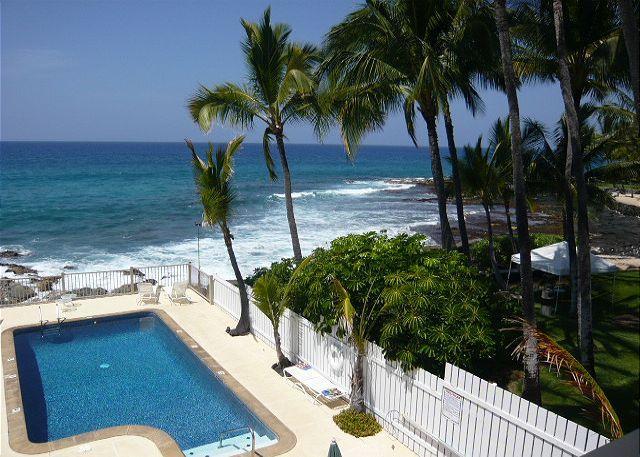 Ocean Front Pool - 1 Bedroom Ocean Front Complex, Kona Riviera Villas 106 - Kailua-Kona - rentals