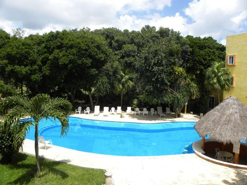 View from the balcony - 2 BR Condo with Golf Course View next to Reef Club - Playa del Carmen - rentals