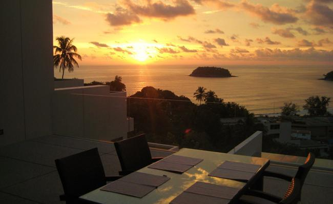 Terrace view - Luxury Seaview 2 Bed Apartment in Kata, Phuket - Kata - rentals